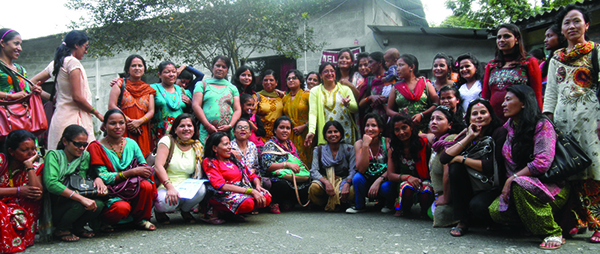 A group photo of women with disabilities taken during one of the programs of NDWA