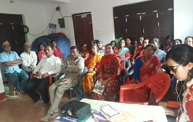 participants are listening the issues of women with disabilities in Chisapani, Ramechhap